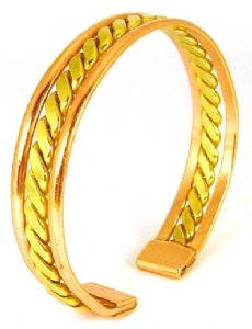 B30: Copper & Brass Twist Magnetic Bracelet
